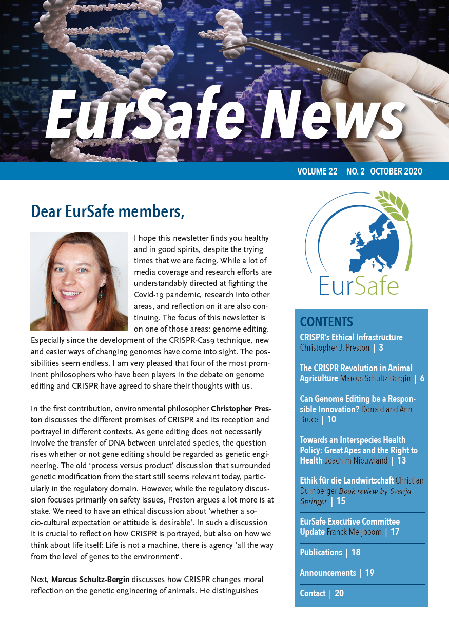 Eursafe Newsletter October 2020